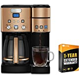 Cuisinart SS-15 12-Cup Coffee Maker and Single-Serve Brewer, Copper Stainless Bundle with Extended Warranty