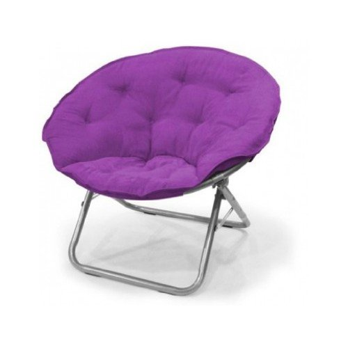 Pleasing Mainstay Purple Large Polysuede Moon Chair Gmtry Best Dining Table And Chair Ideas Images Gmtryco