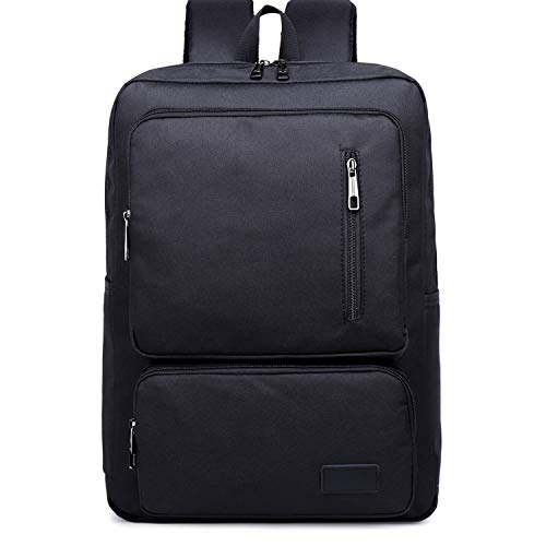 Laptop Bag, Fashion Large Capacity Casual Notebook Tablet Backpack, Portable Notebook Computer Carrying Case Bag (Color : Black)