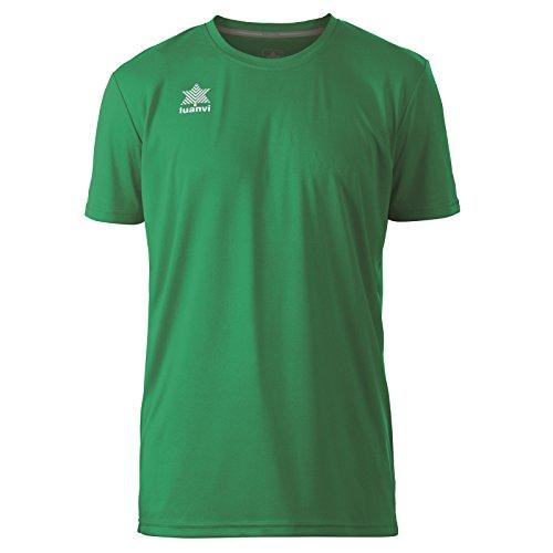 Luanvi Pol Camiseta de Deportes Manga Corta, Hombre, Verde, L