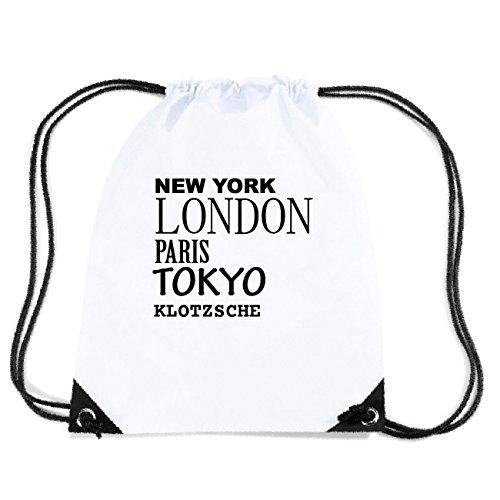 JOllify KLOTZSCHE Turnbeutel Tasche GYM645 – Design: New York, London, Paris, Tokyo