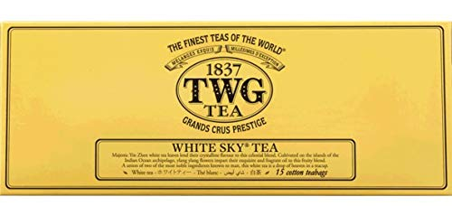 TWG Singapore - The Finest Teas of the World - White Sky - 15 Handnaht Teebeutel aus reiner Baumwolle