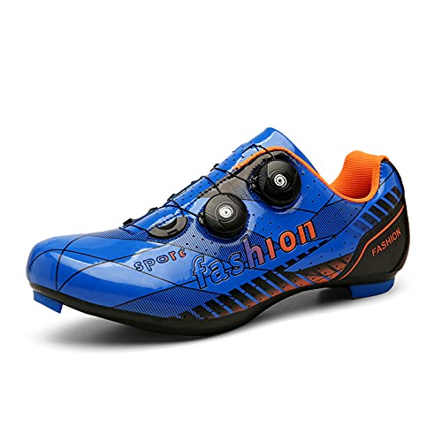 Nuevos Zapatos De Ciclismo De Carretera Zapatos De Bicicleta De Carretera para Hombre Zapatillas De Deporte Transpirables Profesionales Ultraligeras con Cierre Automático
