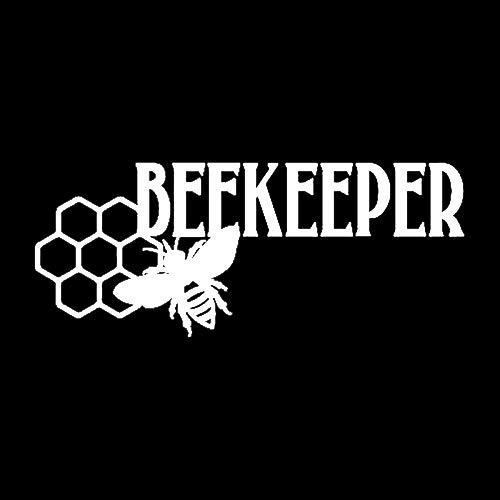 Divertidas pegatinas 17,8 cm x 7,2 cm de vinilo de panal de abejas de apicultor de abeja para coche, calcomanía de apicultura, miel y abejas (color: 2)