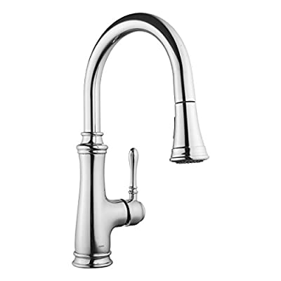 Keewi Kitchen Faucet Chrome Single Handle Pull ...
