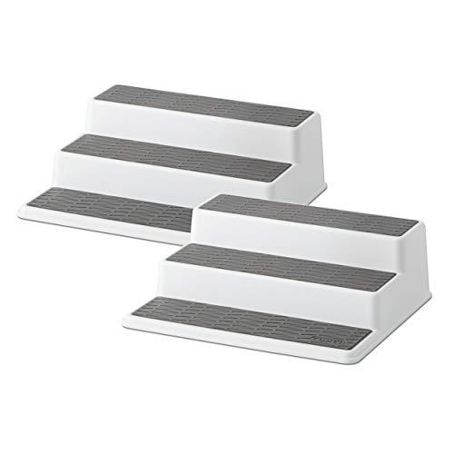 Copco 5257350 Non-Skid 3-Tier Spice Pantry Kitchen Cabinet Organizer, 2 Pack, Grey 2