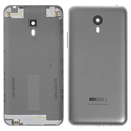 Piezas de repuesto de la cubierta trasera de la batería de la carcasa compatibles con Meizu M2 Note, (gris)