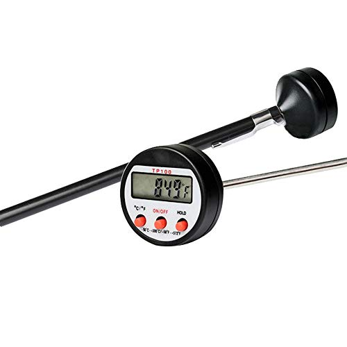 ZQH LCD del termómetro de Carne - 5.3 Pulgadas de Largo de la sonda Lectura instantánea termómetro Digital para Cocina Barbacoa asa a Fumador Carne Líquidos Caramelo y Temperatura de Alimentos