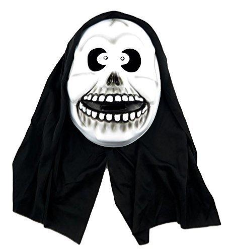 Masques d'horreur à capuche pour femme Motif tête de mort