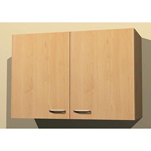 Küchen-Hängeschrank in verschiedenen Breiten Start Melamin Buche/Buche (80cm breit)