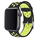 ANBEY für Watch Armband Silikon 44mm 38mm 42mm 40mm, Soft Silikon Ersatz Armbänder für Watch...