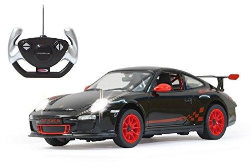Jamara 404310 Porsche GT3 RS 1:14 27MHz-offiziell lizenziert, bis 1 Std. Fahrzeit bei 11 Km/h, LED, Perfekt nachgebildete Details, detaillierter Innenraum,hochwertige Verarbeitung