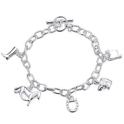 cherrypop Silver-Plated Horse Shape Bracelet Fashion Design Thoughtful Present for Girlfriend