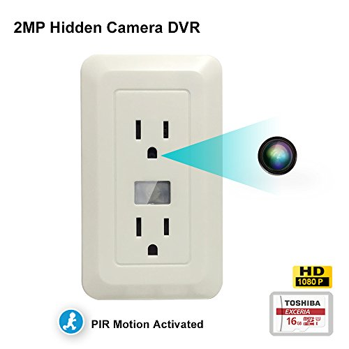 Excepro EX-FH200 Covert Spy Outlet 1080P Camera DVR,PIR Motion...