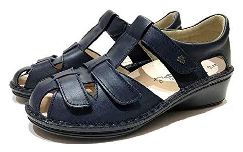[フィンコンフォート] Finn Comfort レディース サンダル 靴 2666 FUNEN 2020年限定色 ドイツ最高級コンフォート 外反母趾サンダル (ネイビー(423041), measurement_25_point_0_centimeters)