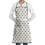 ASNIVI Delantal de cocina,Cocina tradicional mexicana Menú de tortilla vegetariana saludable 1, delantal con 2 bolsillos,Delantales para cocina casera, cocina de restaurante, cafetería, barbacoa