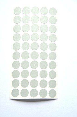 geo-versand Reflektoren Punkte Klebepunkte reflektierend Makierung Geocaching Reflective Dots reflektierende Kreise (100, Silber)