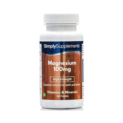 Magnesio 100 mg - 360 comprimidos- Hasta 6 meses de suministro - SimplySupplements