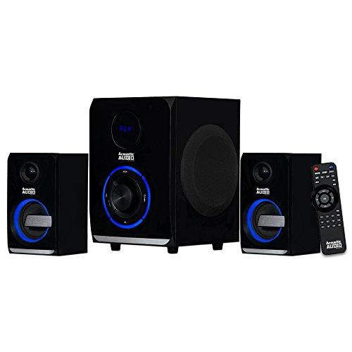 Audio LED acústico Bluetooth 2.1 Canales Home Theater Sistema estéreo Negro (AA2105)