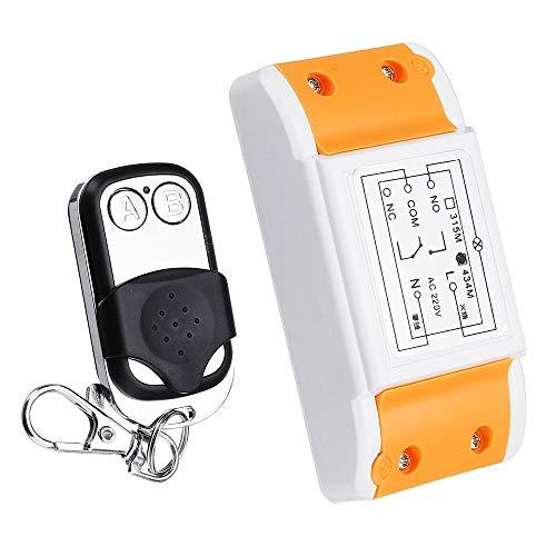 DIY Reemplace los accesorios 433MHz CA 220V 1 canal Canal de control remoto inalámbrico interruptor del módulo con el transmisor de llave 2 Metal Pequeño
