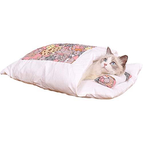 PENGLAI Katzentasche, Haustier Schlafbettchen Winter Warm Katzenhöhle Weich & Comfor...