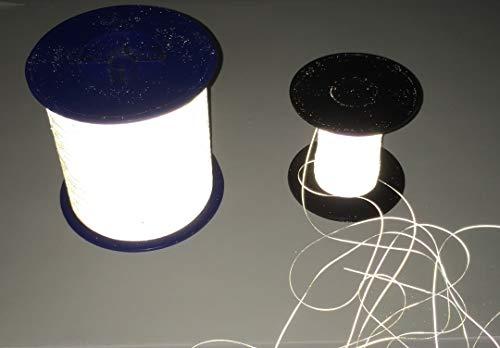Reflektierender Garn 0.5mm Schnur/Nähgarn – Reflektorstoff Silber Stickgarn – Reflektor/Reflexstoff – stark reflektierend (500 oder 4.000Meter) (500 Meter)