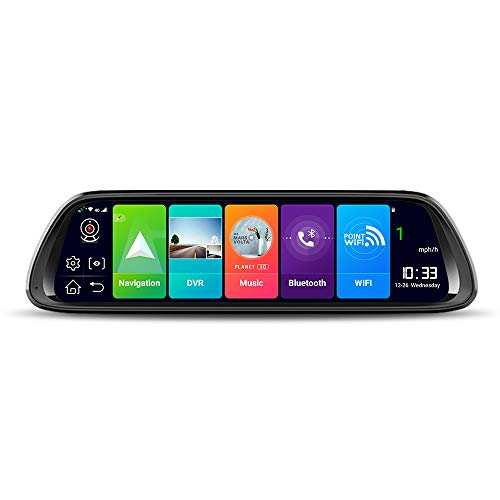 4G Android 8.1 Full Screen Cloud Mirror Streaming Media Driving Recorder Navigation Voice Control Bluetooth reversing Video Music WiFi ADAS(GS18930)