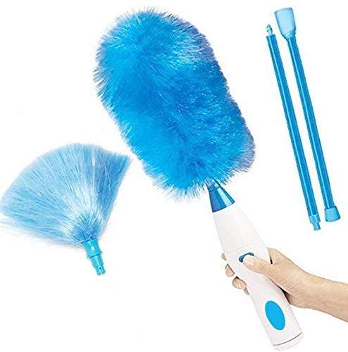 Marbeine - Cepillo de limpieza eléctrico, 360 °, plumero eléctrico inalámbrico, cepillo...