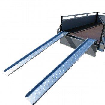 2 x Stahl Auffahrschiene, Verladeschiene, Auffahrrampen m Rand Rasentraktor usw.