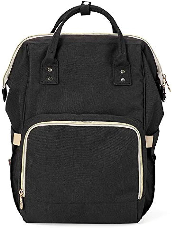 SSeir Multifunktions-Baby-Reisetasche mit groer Kapazitt Leichte einzelne Schulterwindel, die Multifunktionsmummy-Paket tragbar trgt,schwarz