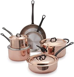 Mauviel 6600.1 Jacques Pepin Collection Cookware 10 Pc Set, Copper