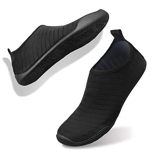 FELOVE Badeschuhe Wasserschuhe Strandschuhe Surfschuhe Barfuß Schuhe,Breathable Schwimmschuhe Hausschuhe Yoga Schuhe für Wassersport für Damen Herren