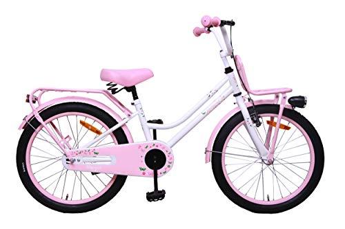 Amigo Magic - Kinderfahrrad für Mädchen - 20 Zoll - mit Handbremse, Rücktritt, Gepäckträger Vorne, fahrradständer und Beleuchtung - ab 5-9 Jahre - Weiß