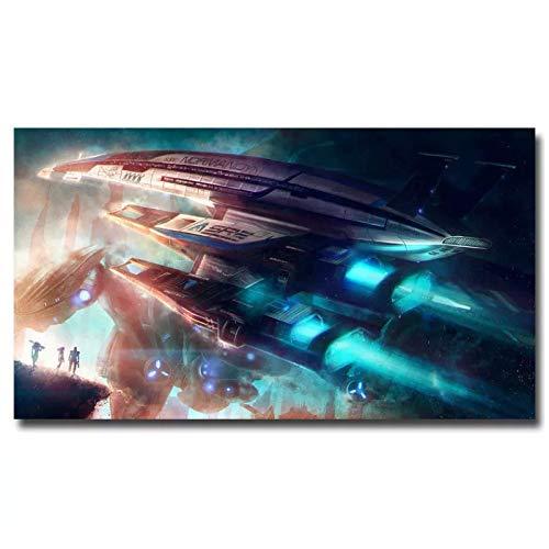 JFGJF Mass Effect Game Normandy Cloth Canvas Wall Art Posters e Impresiones Decoración para el hogar Imágenes-20X28 Pulgadas Sin Marco
