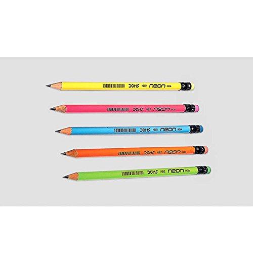 20DOM neon HB matite di grafite e punta in gomma con 2free Sharpeners
