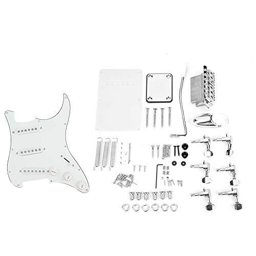 Dilwe Guitarra Eléctrica de Bricolaje, Kits de Guitarra Sistema de Puente de Cubierta Trasera Pickguard para Guitarras Estilo ST