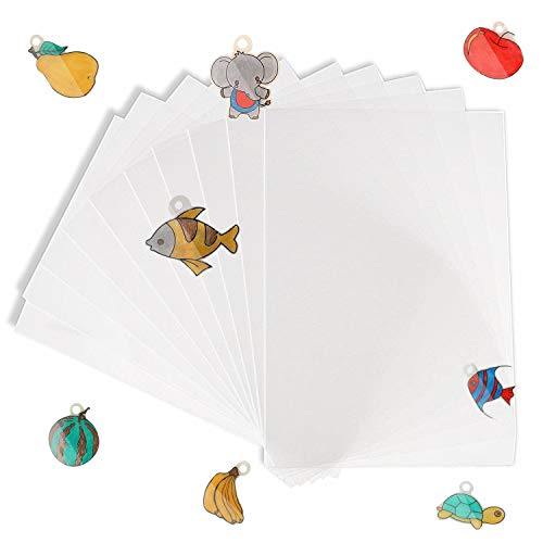 BAPHILE Shrinky Art Paper 17-Pack,Clear Blank Frosted Shrink Film Sheets( 11'' x 8''), Kids Activities for All Ages,for Boys and Girls Creative Craft