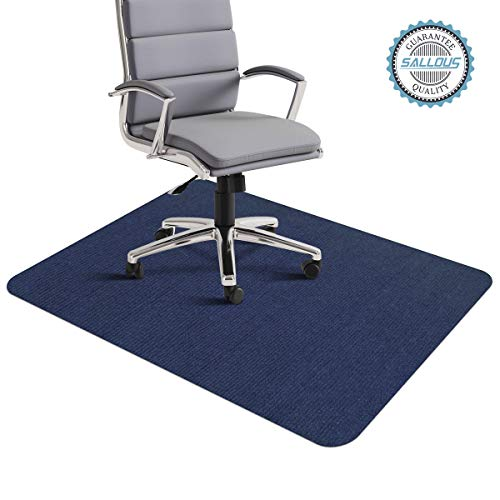 Office Chair Mat, Office Desk Chair Mat for Hardwood Floors, 1/6 Thick 35x55 Hard Floor Protector Mat, Multi-Purpose Low-Pile Chair Carpet for Home & Office (Dark Blue)