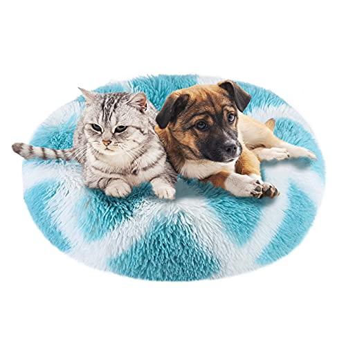 cuccia cane blu Peluche Ciambella Per Animali Domestici 50cm Cuccia Per Gatti Letto Per Cani Rotondo Donut Marshmallow Pet Bed Cuccia Antistress Cane Calming Bed Dog Cuccia Cane Morbida Cuccia