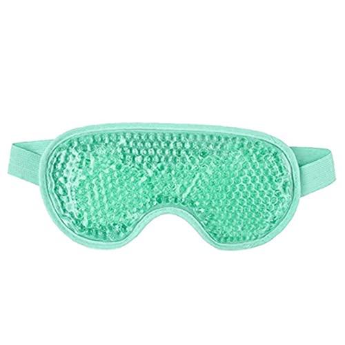 Sanfiyya Reutilizable compresa de Gel de Perlas de los Ojos de la Cubierta del sueño Caliente y fría Ojos hinchados círculos Oscuros migraña Verde