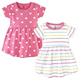 Hudson Baby Girl's Cotton Dresses, Candy Stripes, 3-6 Months