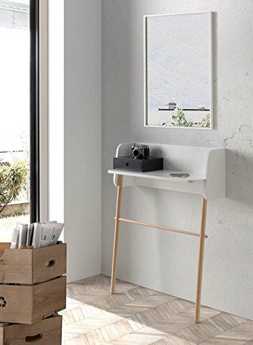 PEGANE Miroir rectangulaire en MDF, laqué Blanc - Dim : H 82 x Long 4 x Lar 52 cm