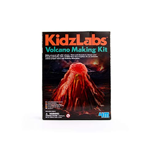 4M KidzLabs Volcano Making Kit - DIY Geology Chemistry Lab STEM Toys Gift for Kids & Teens Boys & Girls Model:3431