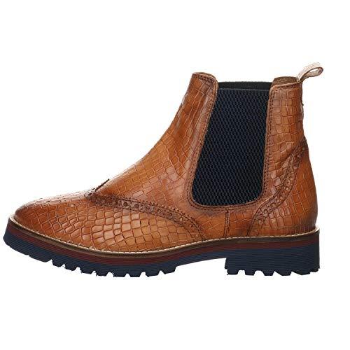 Salamander Damen Chelsea Boots Keny Reptil braun Gr. 39