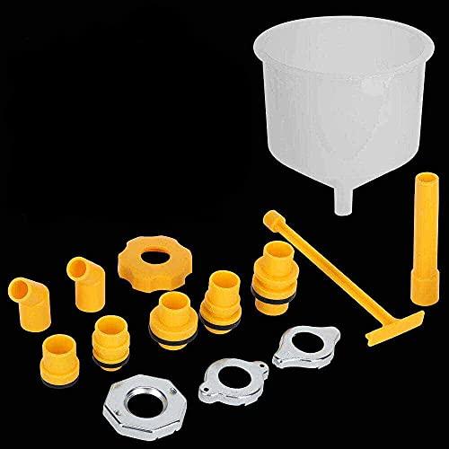 ATING Kit de embudo de llenado para radiador de refrigerante para coche, 15 unidades, a prueba de derrames, juego de herramientas de recarga