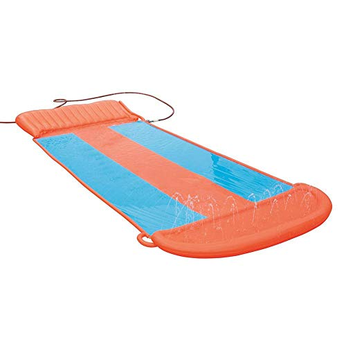 SmallPocket Water Slide for Garden Children Three People OutdoorSlider Watering Toys Inflatable Summer Outdoor Toys