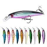 WYHM Señuelos Minnow Fishing Lure 11 cm 7, 5 cm hundimiento Wobblers Pesca Artificial Hard Bait 3 Hook Carp Roures Pesca Tackle Señuelos de Superficie (Color : 15)
