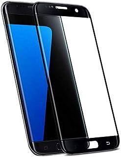 واقي شاشة لهاتف سامسونج جالكسي اس 7 ايدج من الزجاج المقسى 0.18 ملم رفيع للغاية بدرجة صلابة 9 - لون اسود
