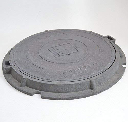 Profi Schachtabdeckung DN600 mit Flanschrahmen. Außendurchmesser - 760 mm Innendurchmesser - 600 mm Höhe 55 mm mit rutschhemmender Oberfläche. Sandcore 1,5T Schachtdeckel A15