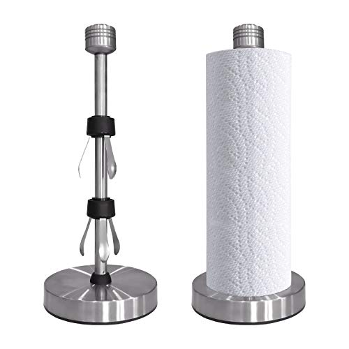 Paper Towel Holder Perfect Tear  Silver Paper Towel Holder Kitchen Towel Holder Paper Towel Holder Stand Stainless Steel Paper Towel Holder countertop